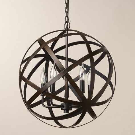 Widely Used Metal Orb Chandelier (View 30 of 30)
