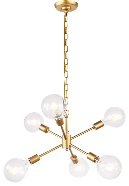 Widely Used Nolan 6 Light Pendant, Brass For Nolan 1 Light Lantern Chandeliers (View 18 of 30)