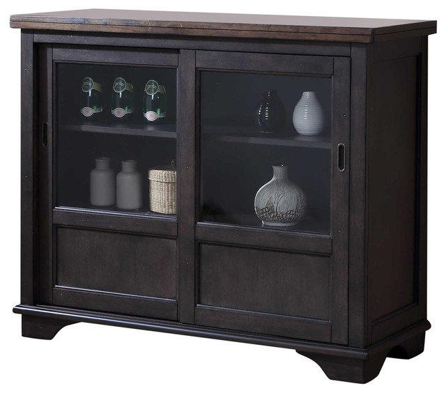 Widely Used Rutherford Sideboards Within Rutherford Sideboard With Glass Sliding Doors (View 8 of 20)