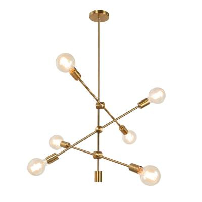 Widely Used Sputnik – Chandeliers – Lighting – The Home Depot With Regard To Bautista 6 Light Sputnik Chandeliers (View 30 of 30)