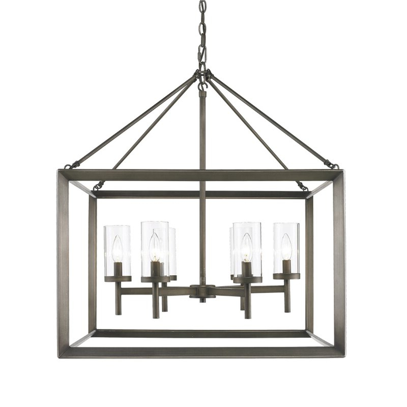 Widely Used Thorne 6 Light Lantern Square / Rectangle Pendant Regarding Thorne 6 Light Lantern Square / Rectangle Pendants (Gallery 3 of 30)
