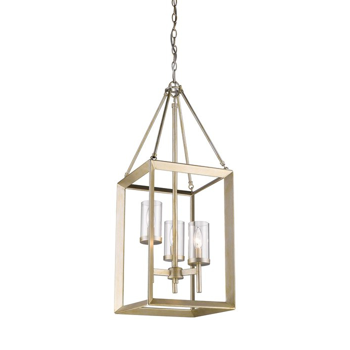 Widely Used Thorne 6 Light Lantern Square / Rectangle Pendants Intended For Thorne 3 Light Lantern Square / Rectangle Pendant (Gallery 13 of 30)