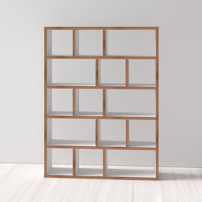 Widely Used Varga 5 Level Geometric Bookcase With Varga 5 Level Geometric Bookcases (View 4 of 20)