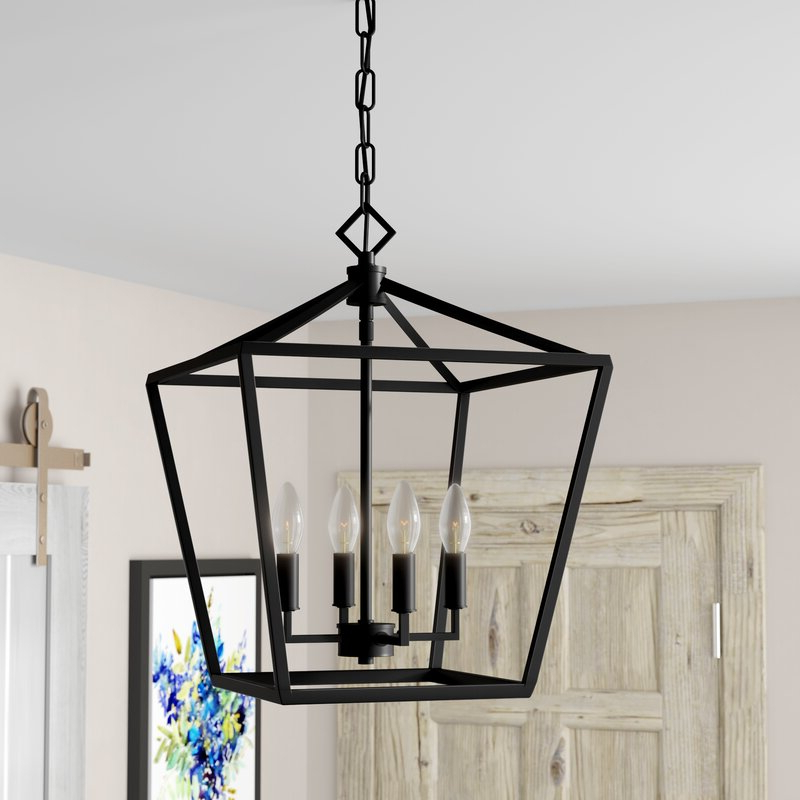 Widely Used Varnum 4 Light Lantern Pendants Pertaining To Poisson 4 Light Lantern Pendant (View 13 of 30)