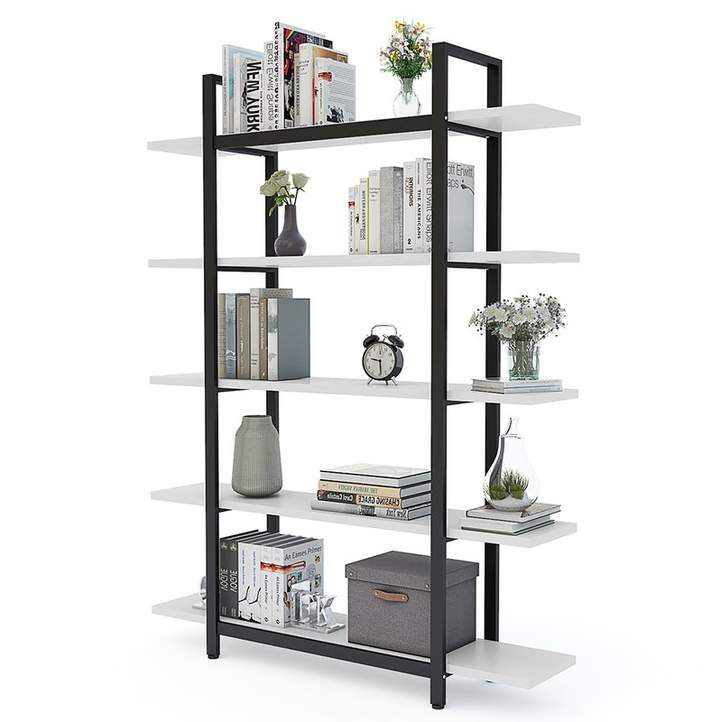 Williston Forge Melia Vintage Industrial Style 5 Tier In Most Recently Released Rossman Etagere Bookcases (View 15 of 20)