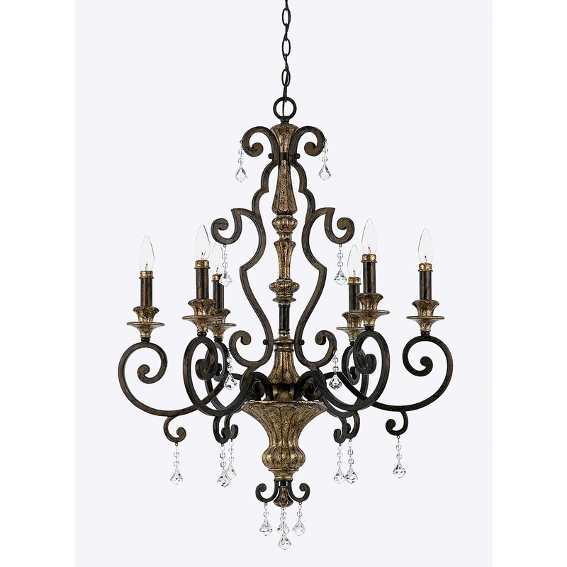 Windsor Rise 6 Light Chandelier Regarding Latest Bouchette Traditional 6 Light Candle Style Chandeliers (View 30 of 30)
