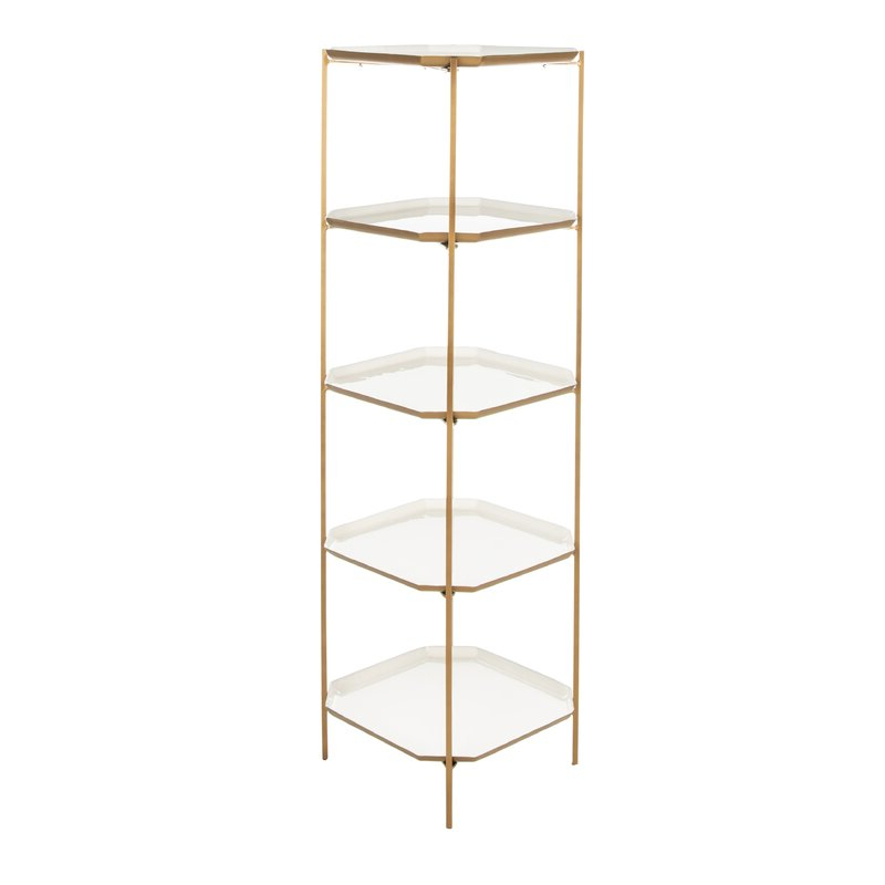 Woodcrest Etagere Bookcases Regarding Well Known Merced 5 Tier Etagere Bookcase (View 20 of 20)