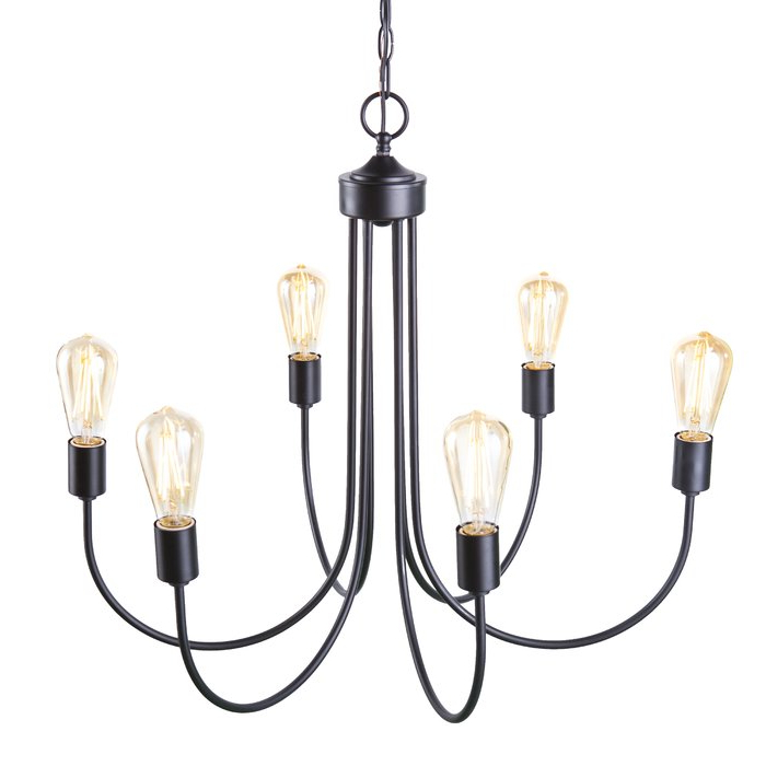 Woolverton 6 Light Chandelier Intended For Trendy Sherri 6 Light Chandeliers (View 5 of 30)
