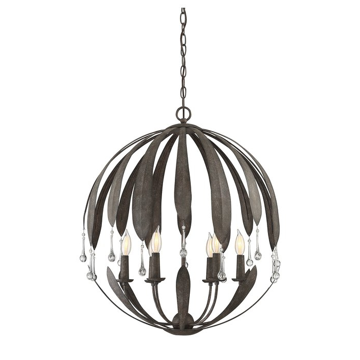 Wyant 6 Light Chandelier With Regard To Most Popular Morganti 4 Light Chandeliers (View 14 of 30)