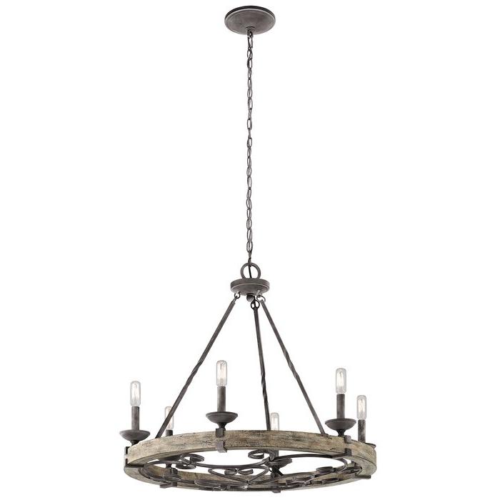 Yasmin 6 Light Wagon Wheel Chandelier Regarding Well Known Pickensville 6 Light Wagon Wheel Chandeliers (Gallery 12 of 30)