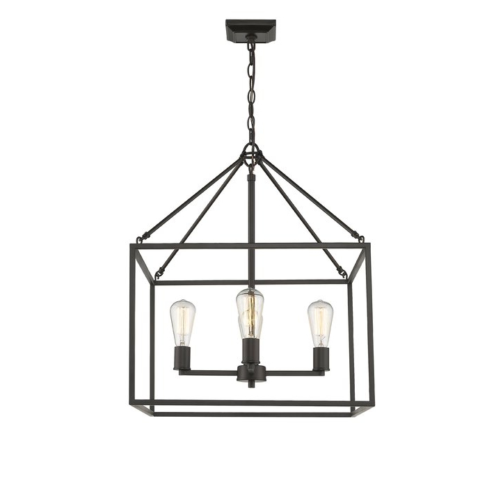 Zabel 4 Light Lantern Square / Rectangle Pendant Throughout Popular Odie 4 Light Lantern Square Pendants (Gallery 25 of 30)
