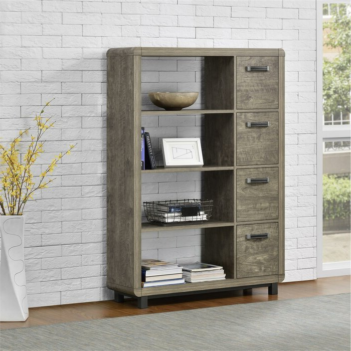 Zack Standard Bookcases In Fashionable Jodi Standard Bookcase (View 14 of 20)