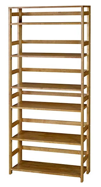 Zack Standard Bookcases Intended For Preferred Regency Flip Flop 67 Inch High Folding Bookcase  Medium Oak (View 17 of 20)