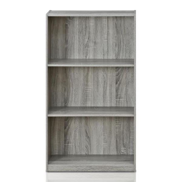 Zack Standard Bookcases Regarding Widely Used Furinno Basic 3 Shelf French Oak Grey Open Bookcase 99736Gyw (View 18 of 20)