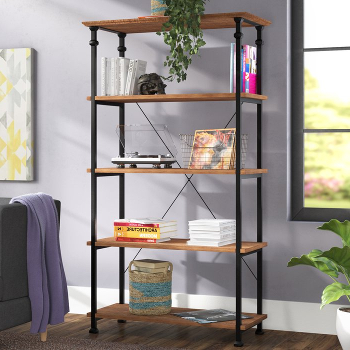 Zona Etagere Bookcase With Regard To Popular Parthenia Etagere Bookcases (View 15 of 20)