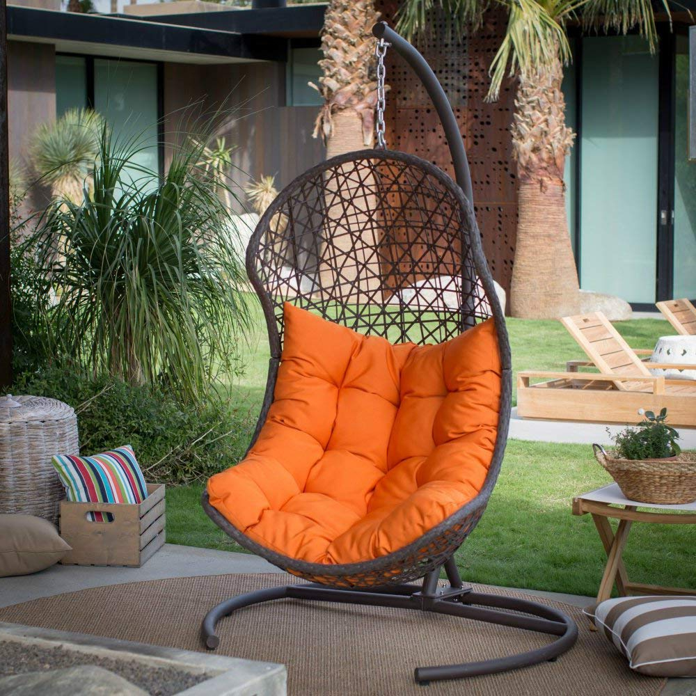 12 Best Hanging Egg Chairs To Buy In 2020 – Outdoor & Indoor Regarding Most Up To Date Outdoor Wicker Plastic Tear Porch Swings With Stand (Gallery 18 of 30)