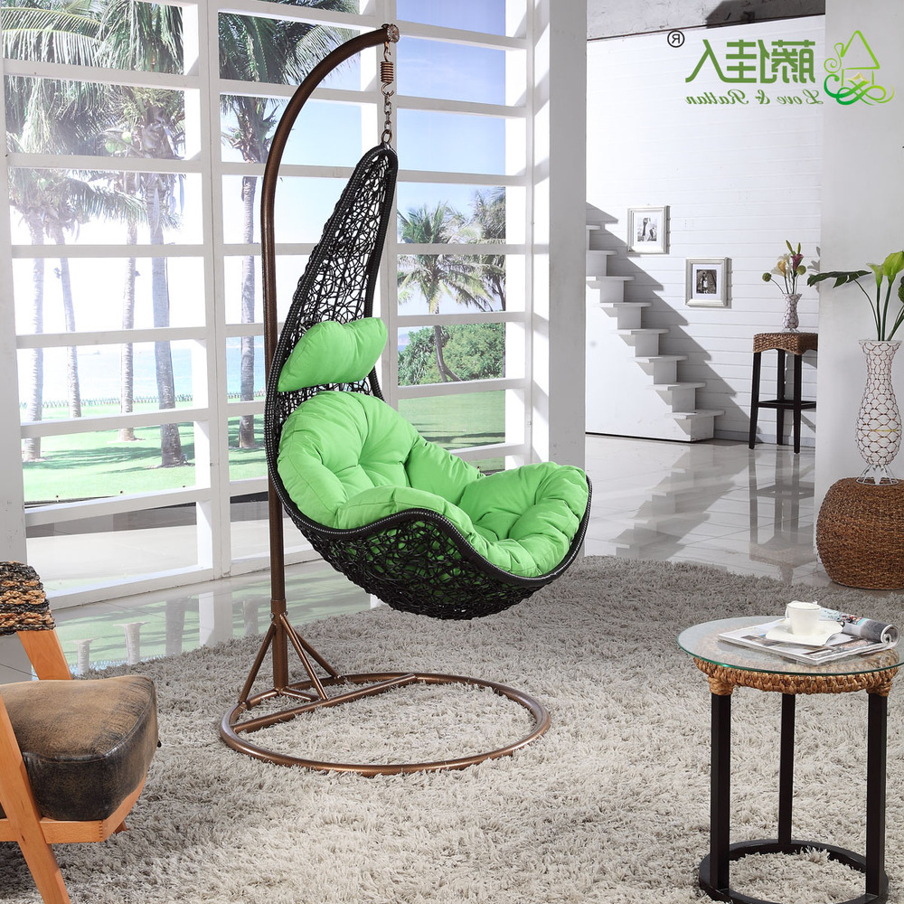 2 Person Antique Black Iron Outdoor Swings Inside 2019 White Patio Garden Wicker Rattan Hanging Egg Swing Chair (View 2 of 30)