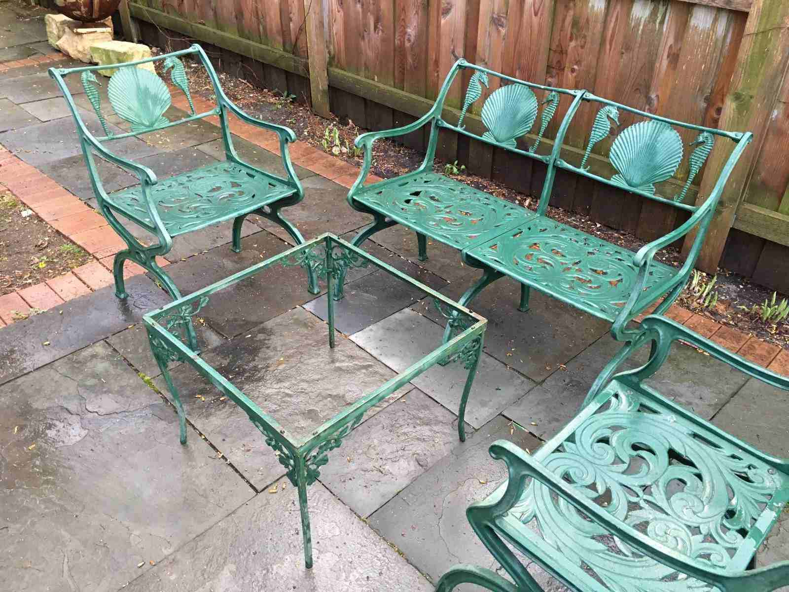 2 Person Antique Black Iron Outdoor Swings Pertaining To Well Liked A Guide To Buying Vintage Patio Furniture (View 5 of 30)