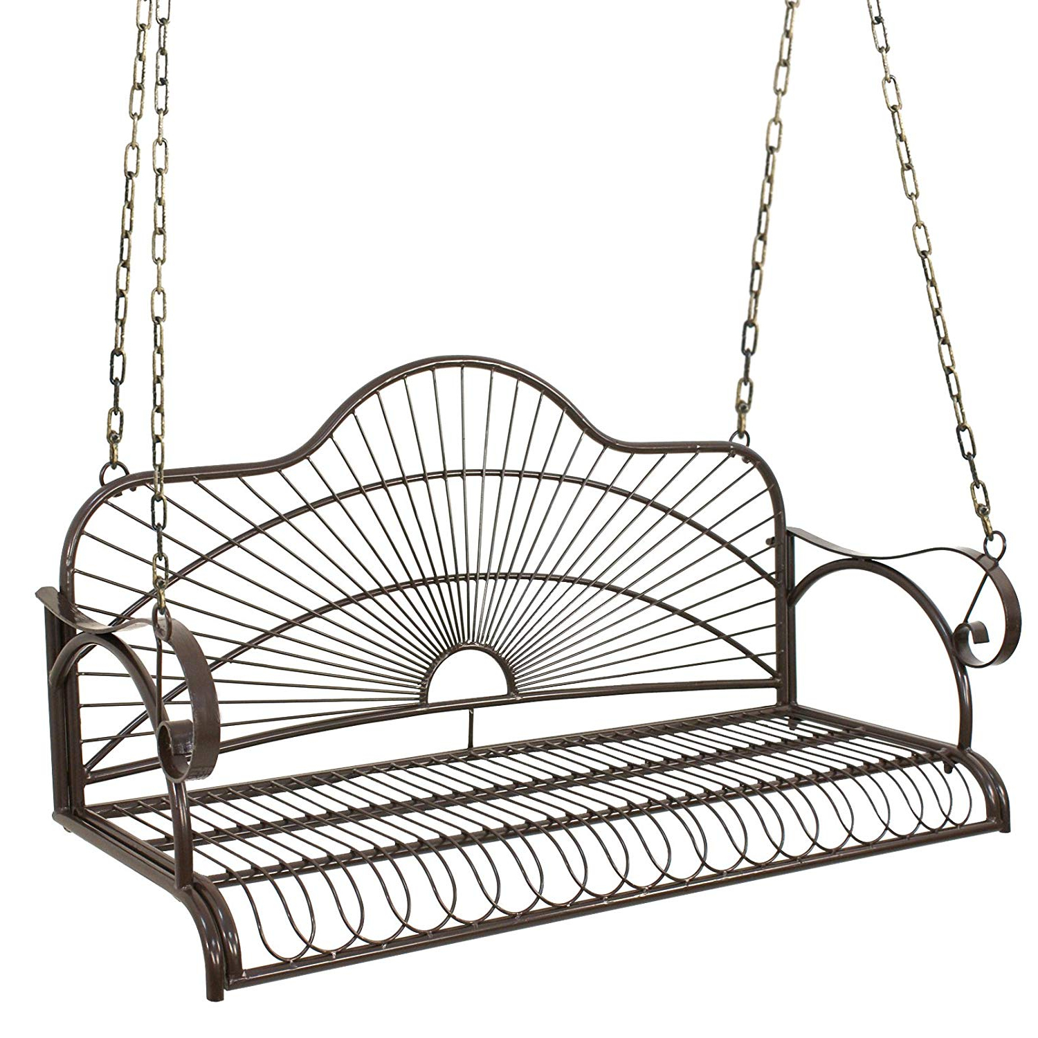2 Person Antique Black Iron Outdoor Swings With Regard To Most Up To Date Amazon : Nova Microdermabrasion Patio Metal Hanging (View 7 of 30)