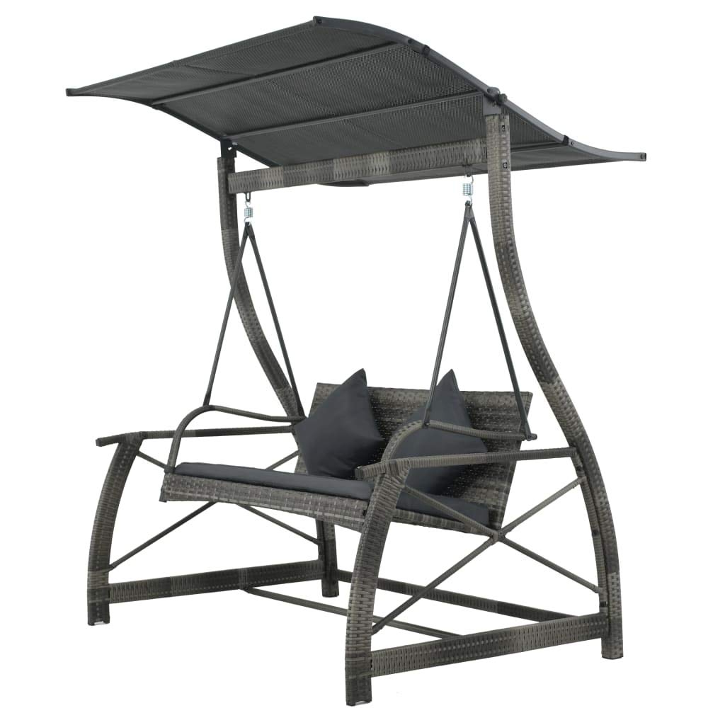 2 Person Gray Steel Outdoor Swings With Regard To Well Known Amazon: Festnight 2 Person Garden Swing Chair Gray Poly (View 2 of 30)