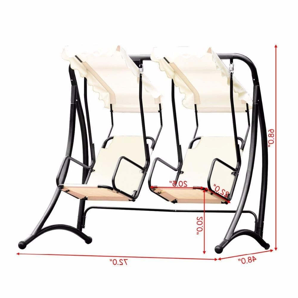 2 Person Hammock Porch Swing Patio Outdoor Hanging Loveseat Canopy Glider Swings With Regard To 2020 Amazon : Tangkula Outdoor Patio Swing 2 Person Heavy (View 9 of 30)