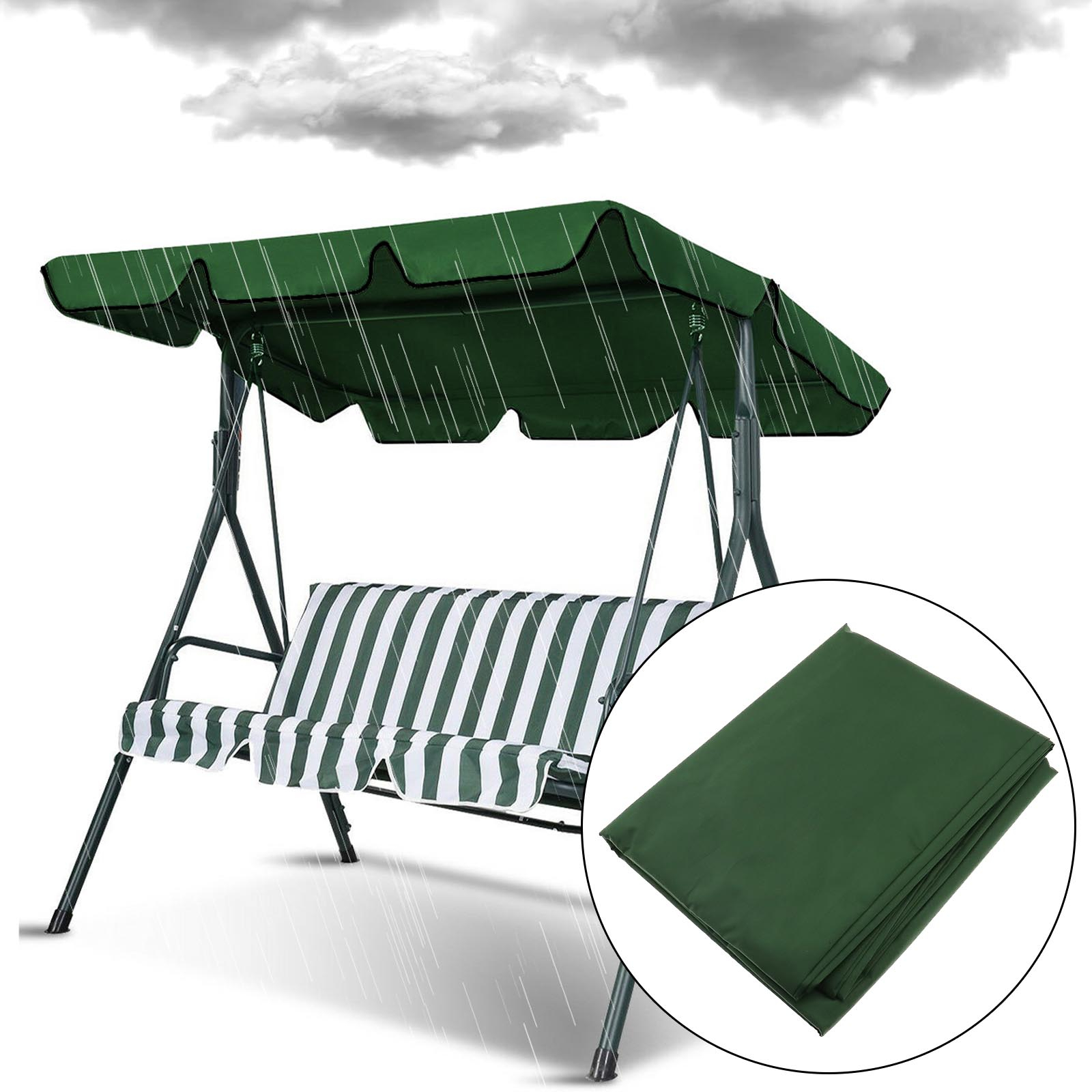 2 Person Hammock Porch Swing Patio Outdoor Hanging Loveseat Canopy Glider Swings With Regard To Well Liked Details About 2 Person Patio Garden Swing Outdoor Hammock Canopy Hanging Chair Cover Bench (View 7 of 30)