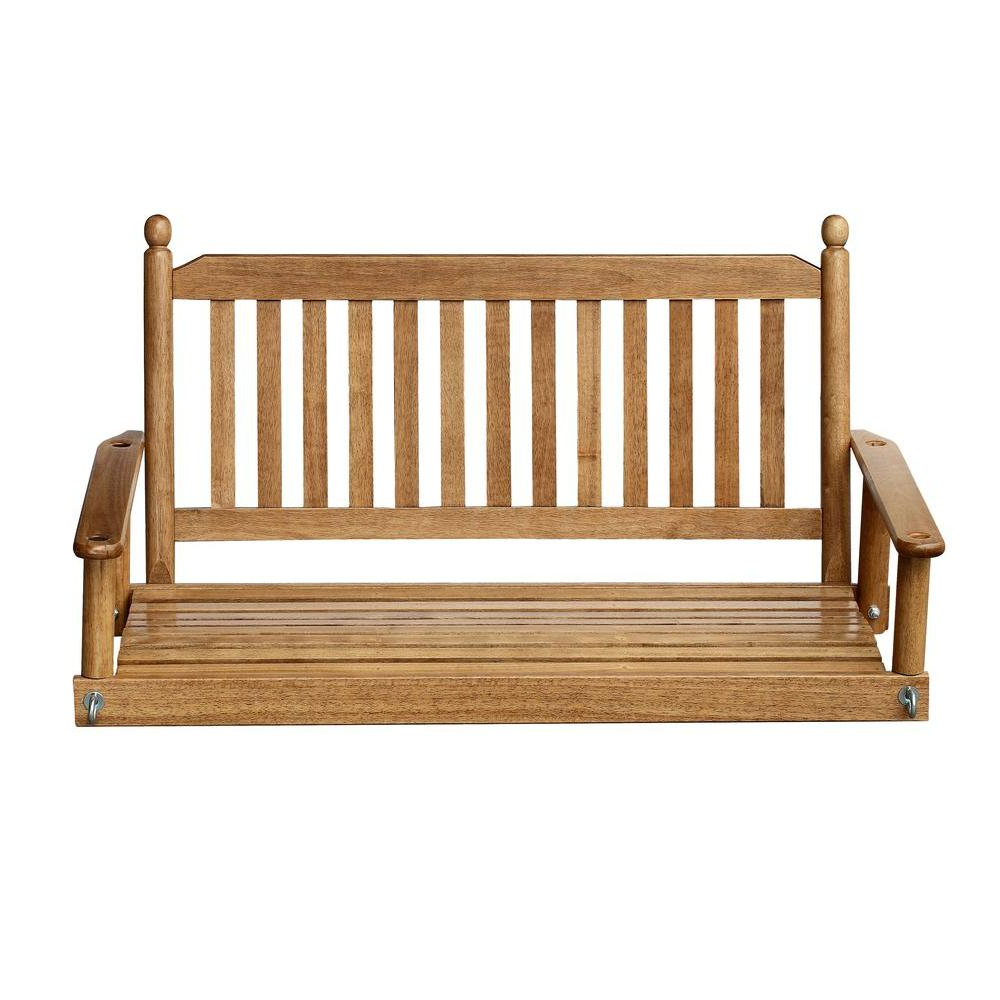 2 Person Maple Porch Swing With Most Up To Date Casual Thames White Wood Porch Swings (View 1 of 30)