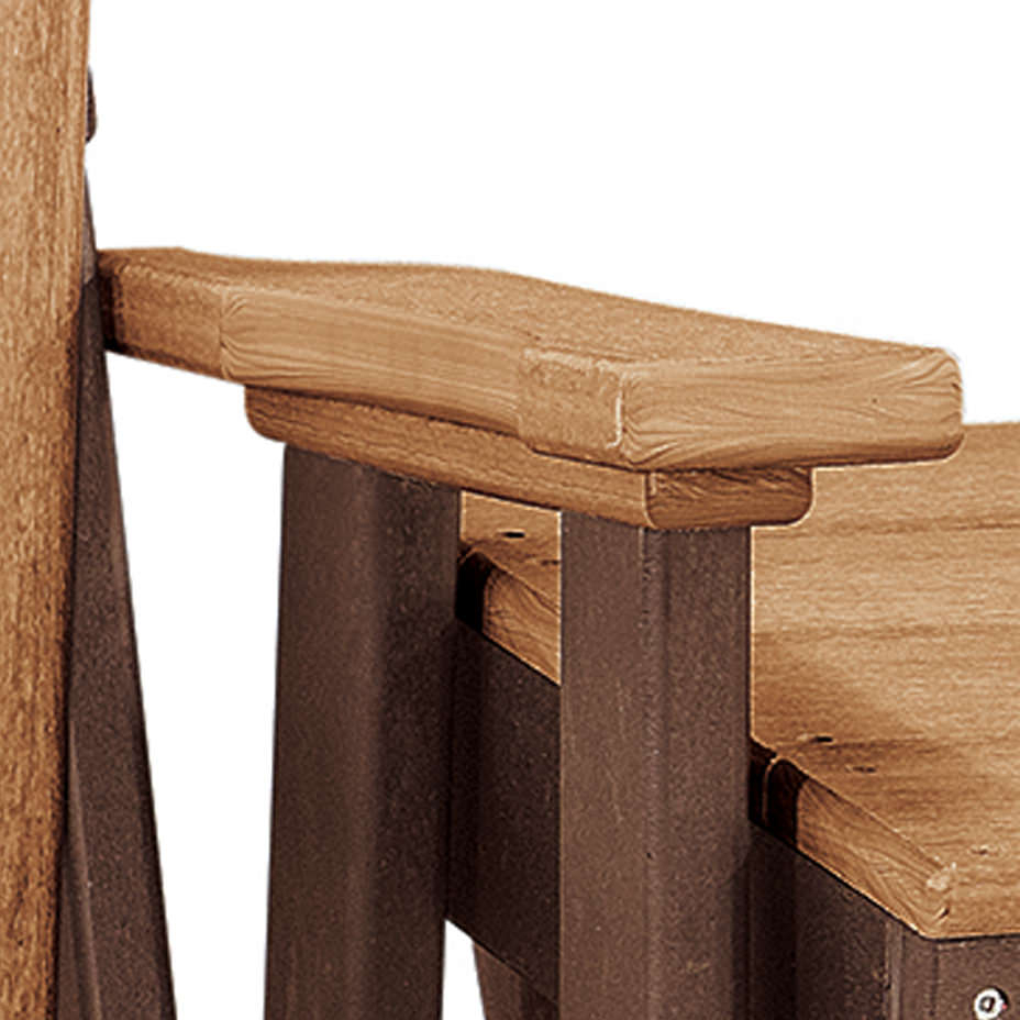 2 Person Natural Cedar Wood Outdoor Gliders Pertaining To Newest One Size Os Home And Office 515ctb K Double Glider Cedar (View 20 of 30)