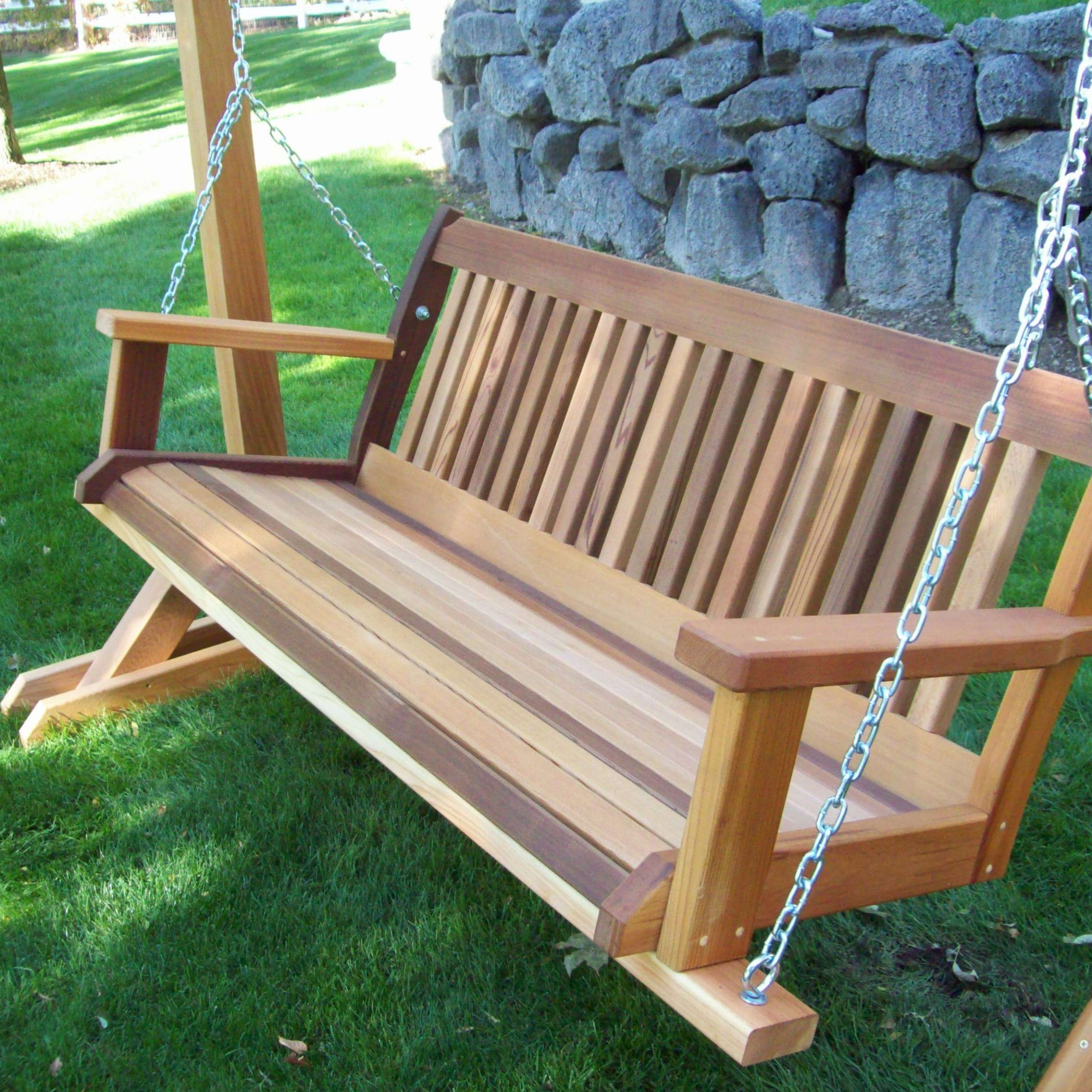 2 Person Natural Cedar Wood Outdoor Gliders Regarding Famous Best Porch Swing Reviews & Guide (View 26 of 30)