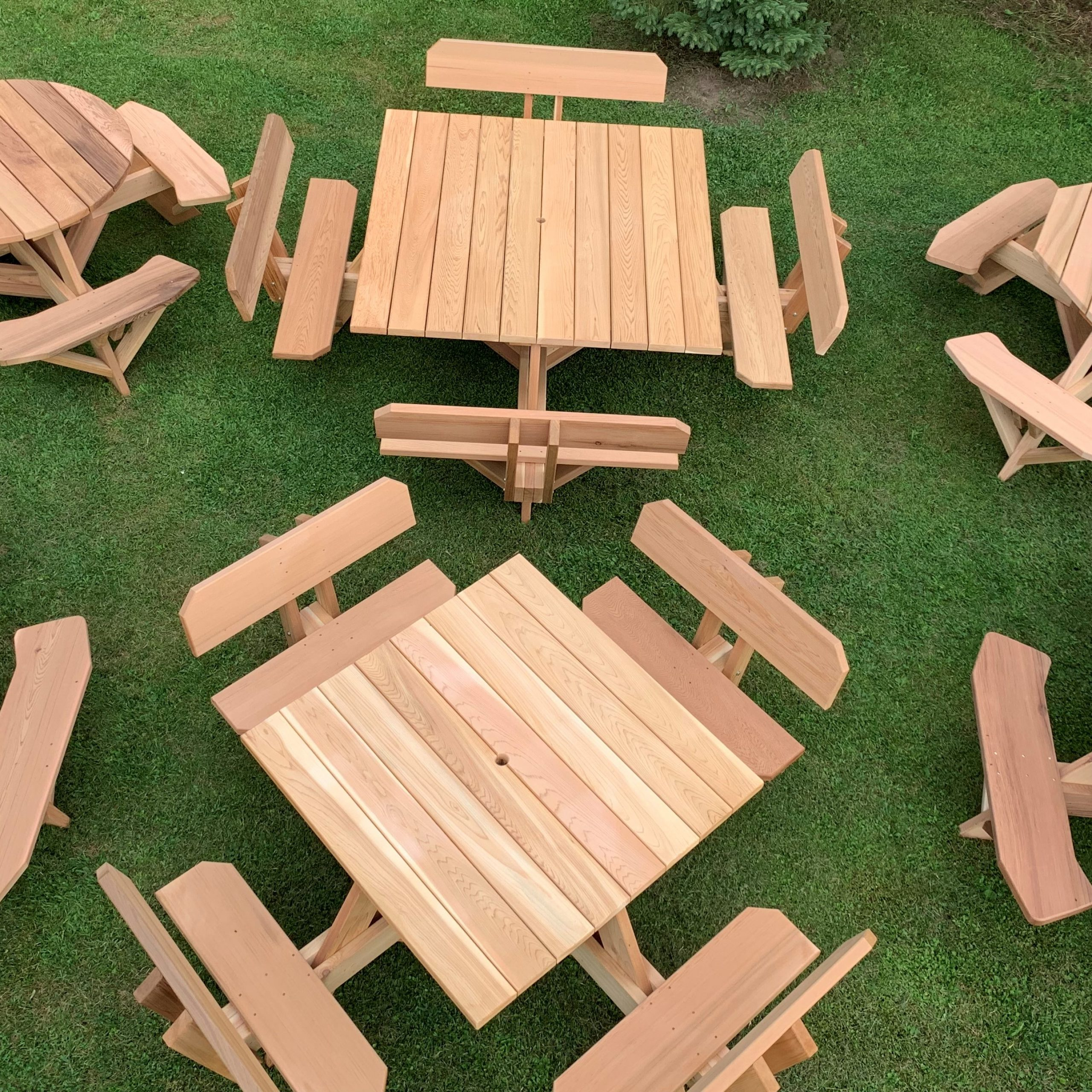 2 Person Natural Cedar Wood Outdoor Gliders Throughout Preferred Dan's Outdoor Furniture – Handcrafted Cedar Furniture For (View 29 of 30)