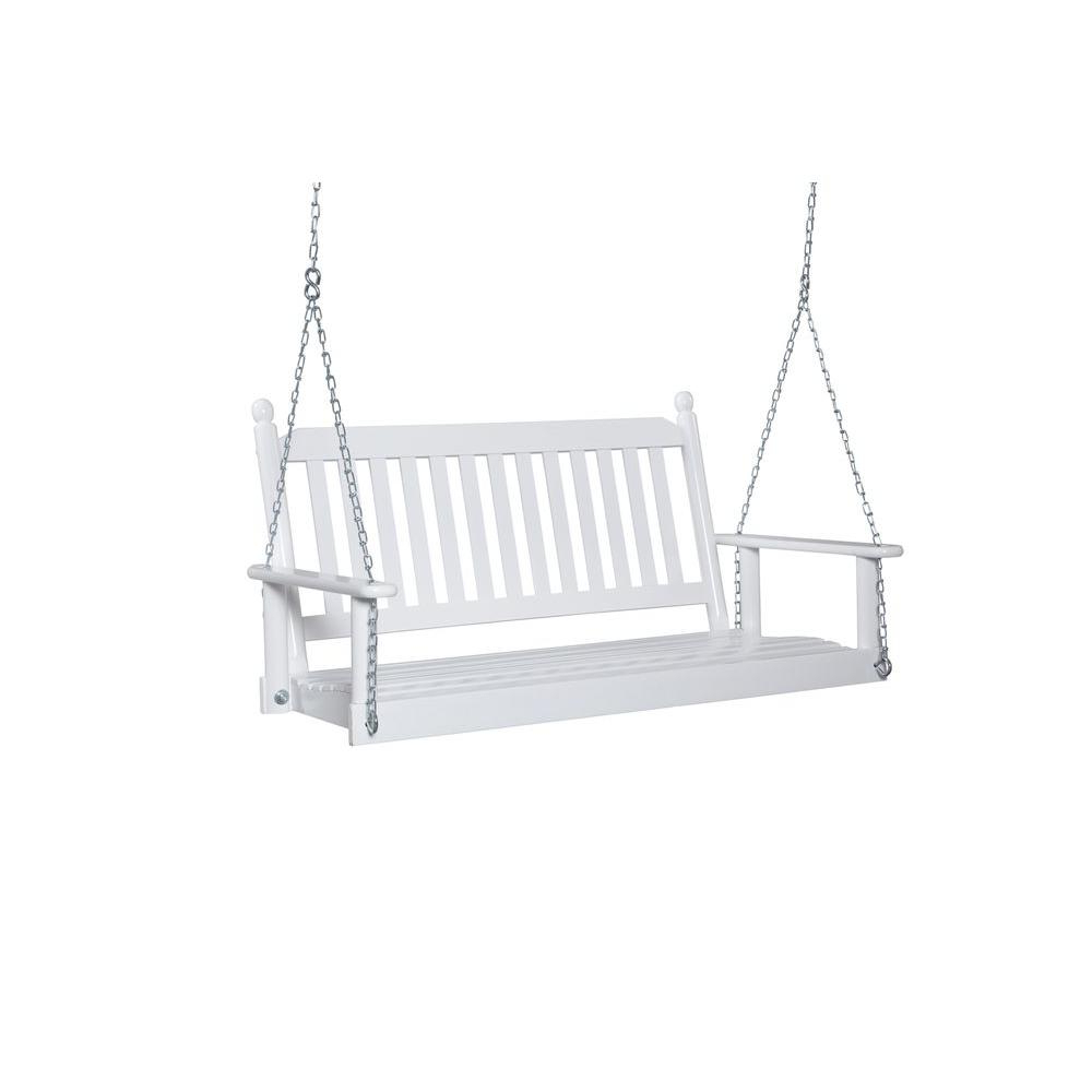 2 Person White Porch Swing Within Newest Nautical Porch Swings (View 1 of 30)