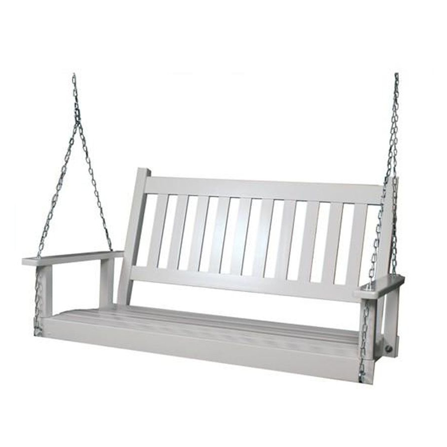 Featured Photo of 2 Person White Wood Outdoor Swings