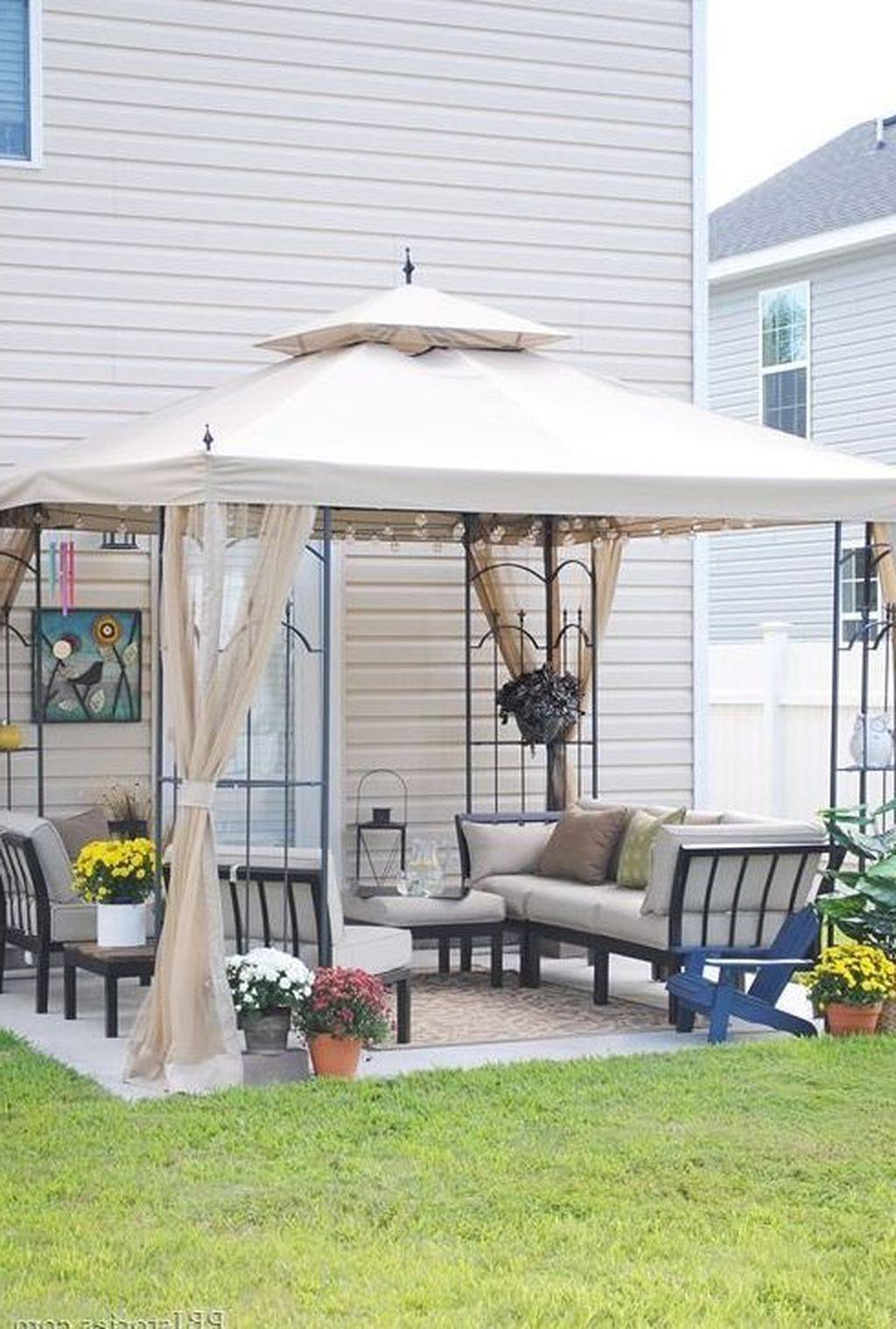 20+ Beautiful Small Backyard Makeover S Ideas On A Budget With Current A4 Ft Cedar Pergola Swings (View 3 of 30)