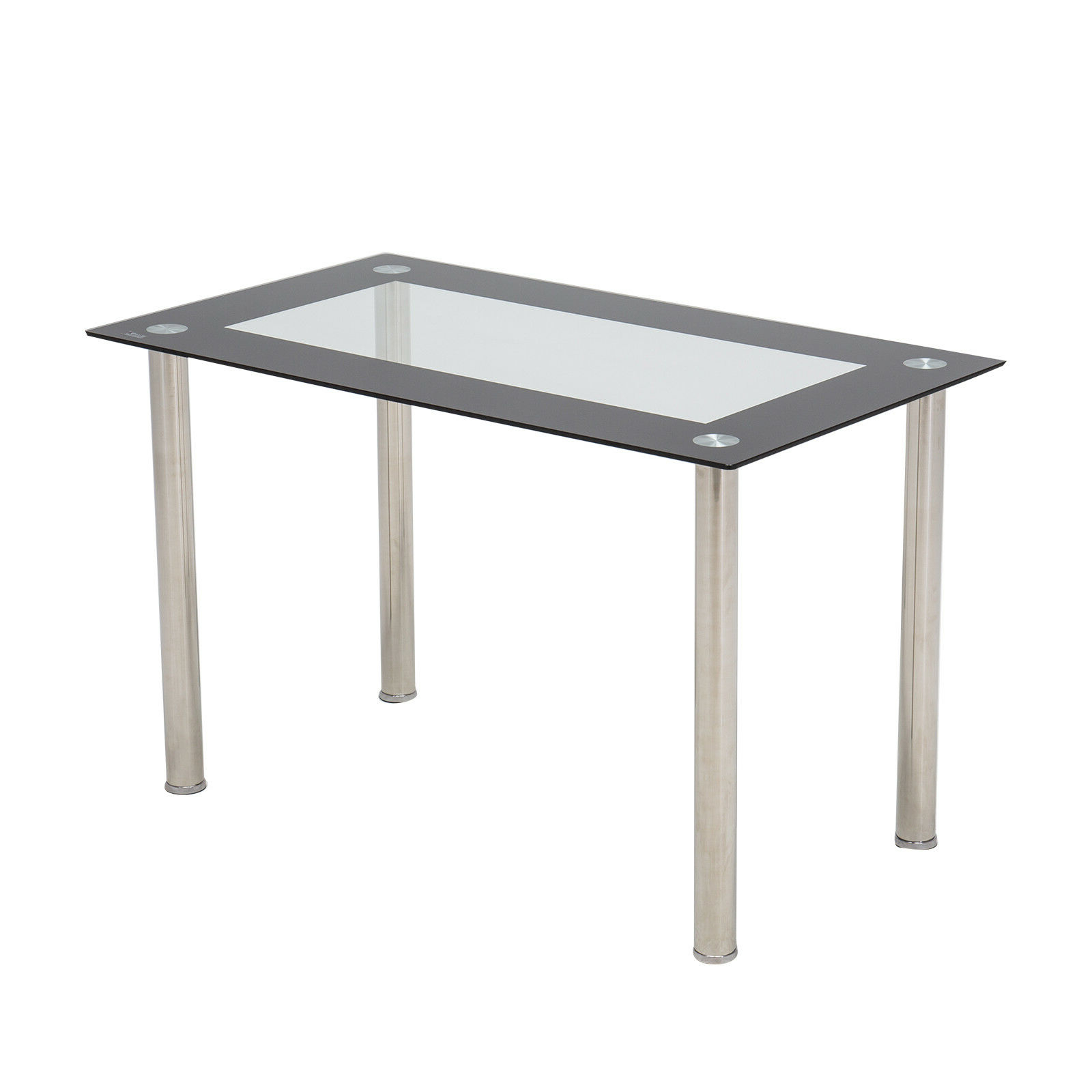 """2017 48""""x28""""glass Dining Table W/metal Legs Kitchen Breakfast Dining Room Furniture For Modern Gold Dining Tables With Clear Glass (View 21 of 30)"""
