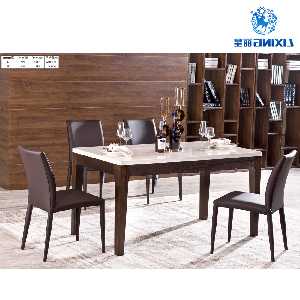 2017 6 Seater Retangular Wood Contemporary Dining Tables Intended For 6 Seater Dinning Room Luxury Modern Marble Dining Table Set – Buy Marble Dining Table Set,modern Dining Table Set,dinning Set Product On Alibaba (View 21 of 30)
