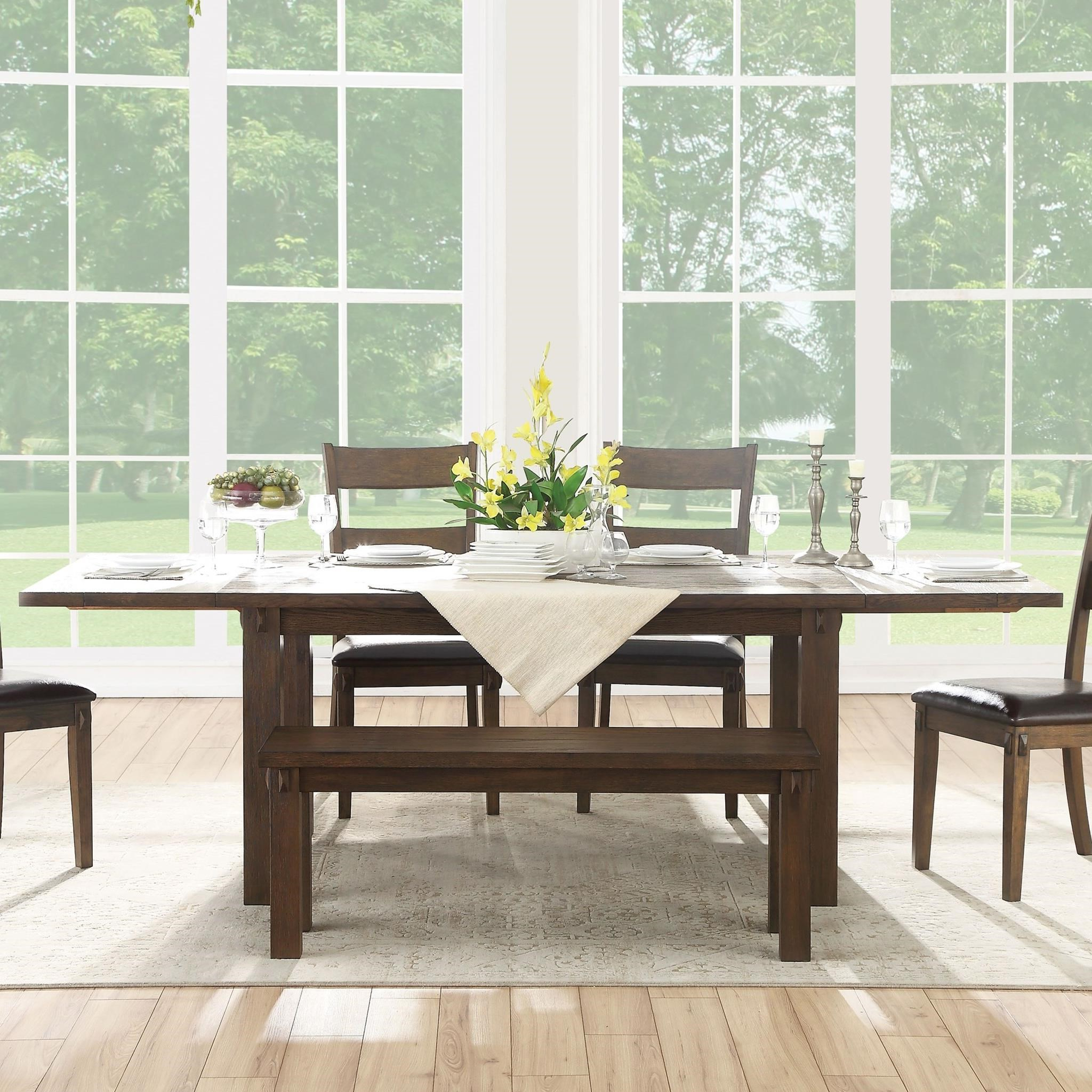 2017 Bistro Transitional 4 Seating Square Dining Tables Pertaining To Acme Furniture Nabirye Transitional Dining Table With (View 20 of 30)