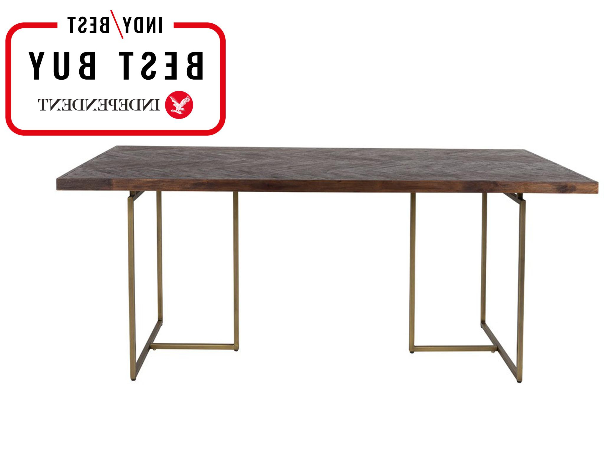 2017 Black Top Large Dining Tables With Metal Base Copper Finish With Regard To 10 Best Dining Tables (View 9 of 30)