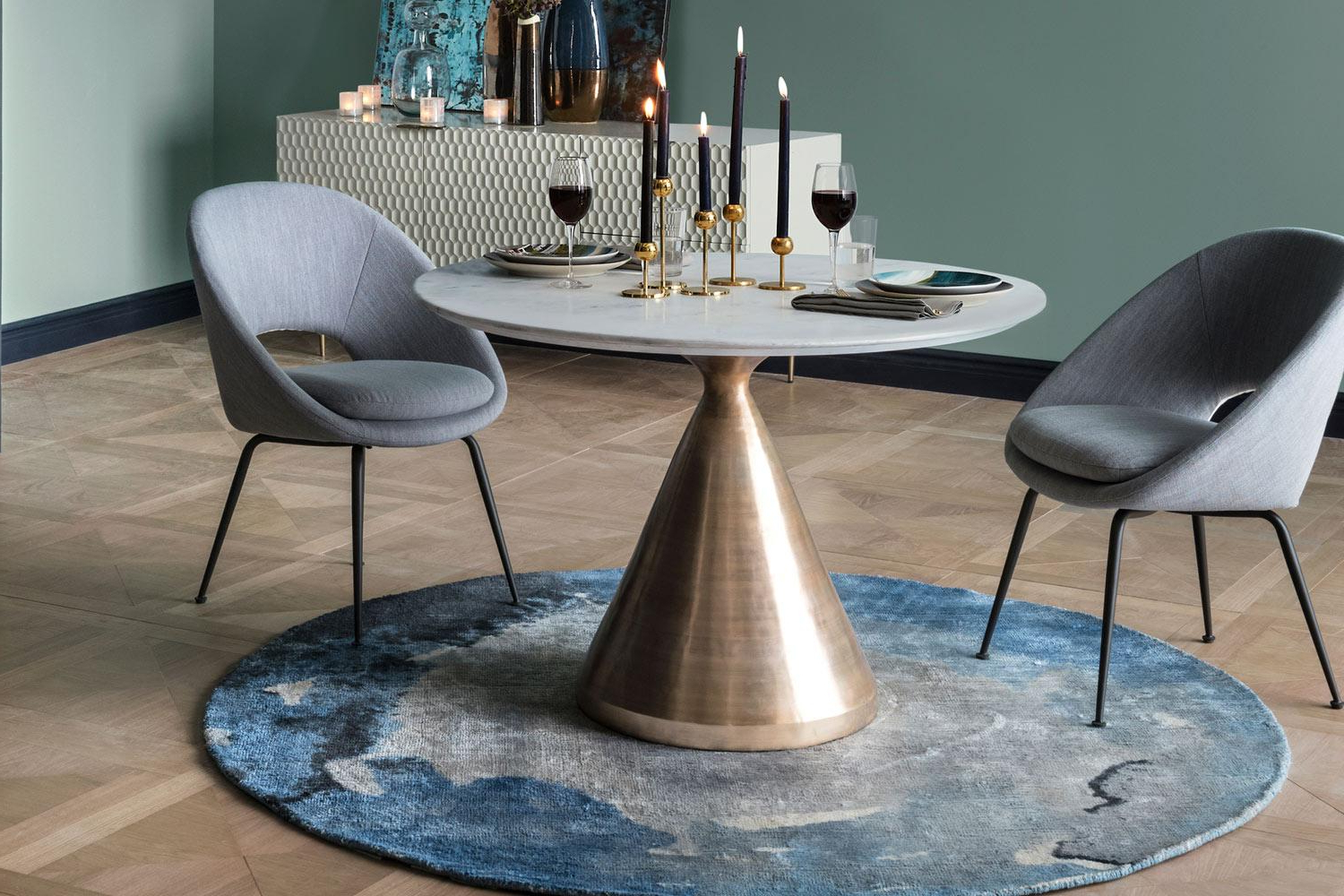 2017 Black Top Large Dining Tables With Metal Base Copper Finish With Regard To Best Dining Tables: The Best Stylish Dining Room Tables (View 8 of 30)