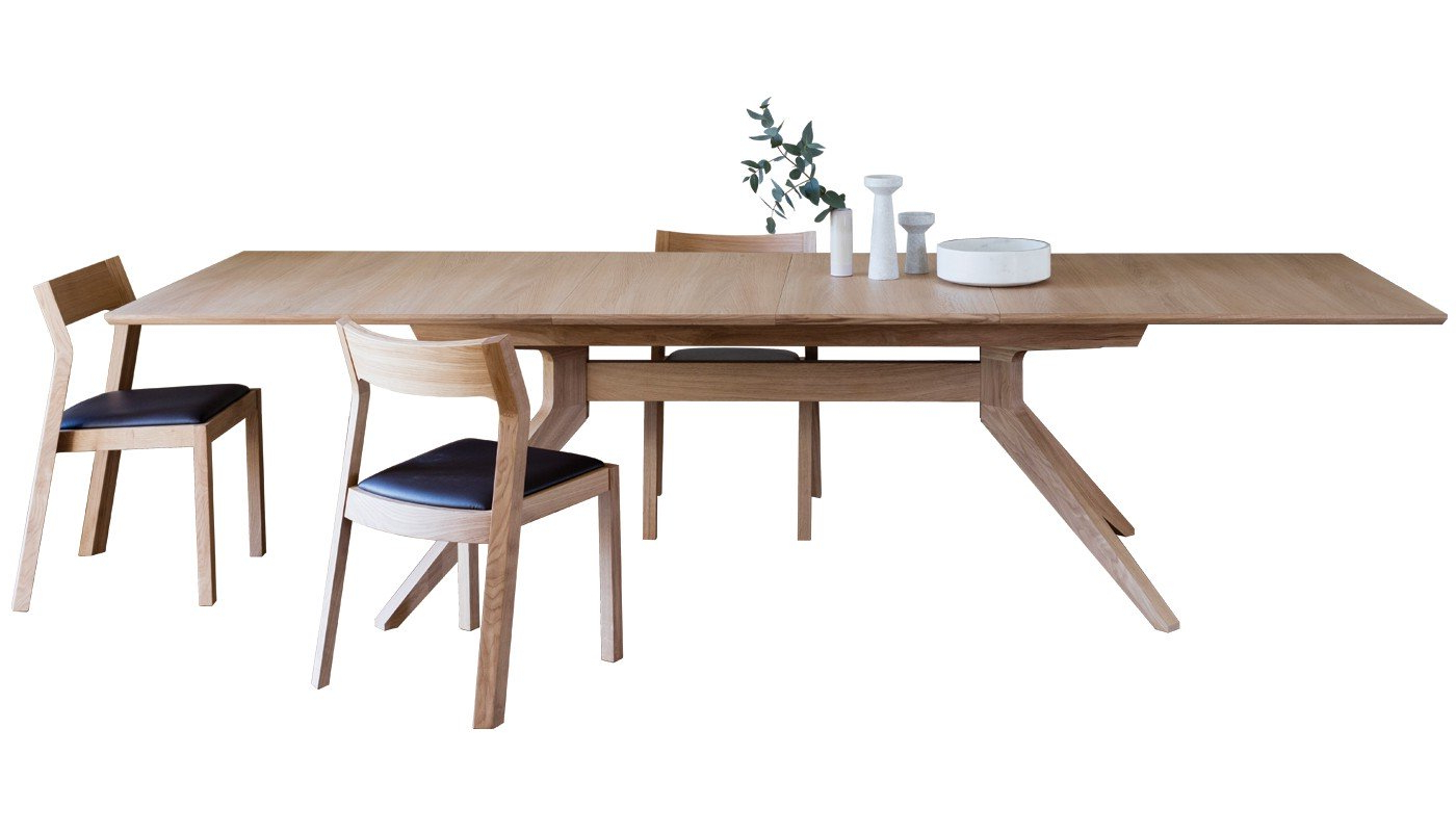 2017 Extension Dining Tables Within Cross Extending Dining Table (View 8 of 30)