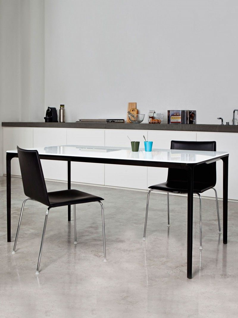 2017 Glass Dining Tables With Metal Legs For Glass Dining Table With Metal Frame – Slim – Glass Table Top (View 3 of 30)