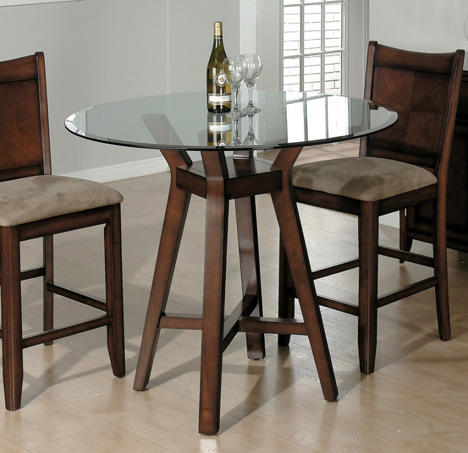 2017 Kitchen Small Round Table With Drop Leafnd Chairs Dining For Intended For Retro Round Glasstop Dining Tables (View 11 of 30)