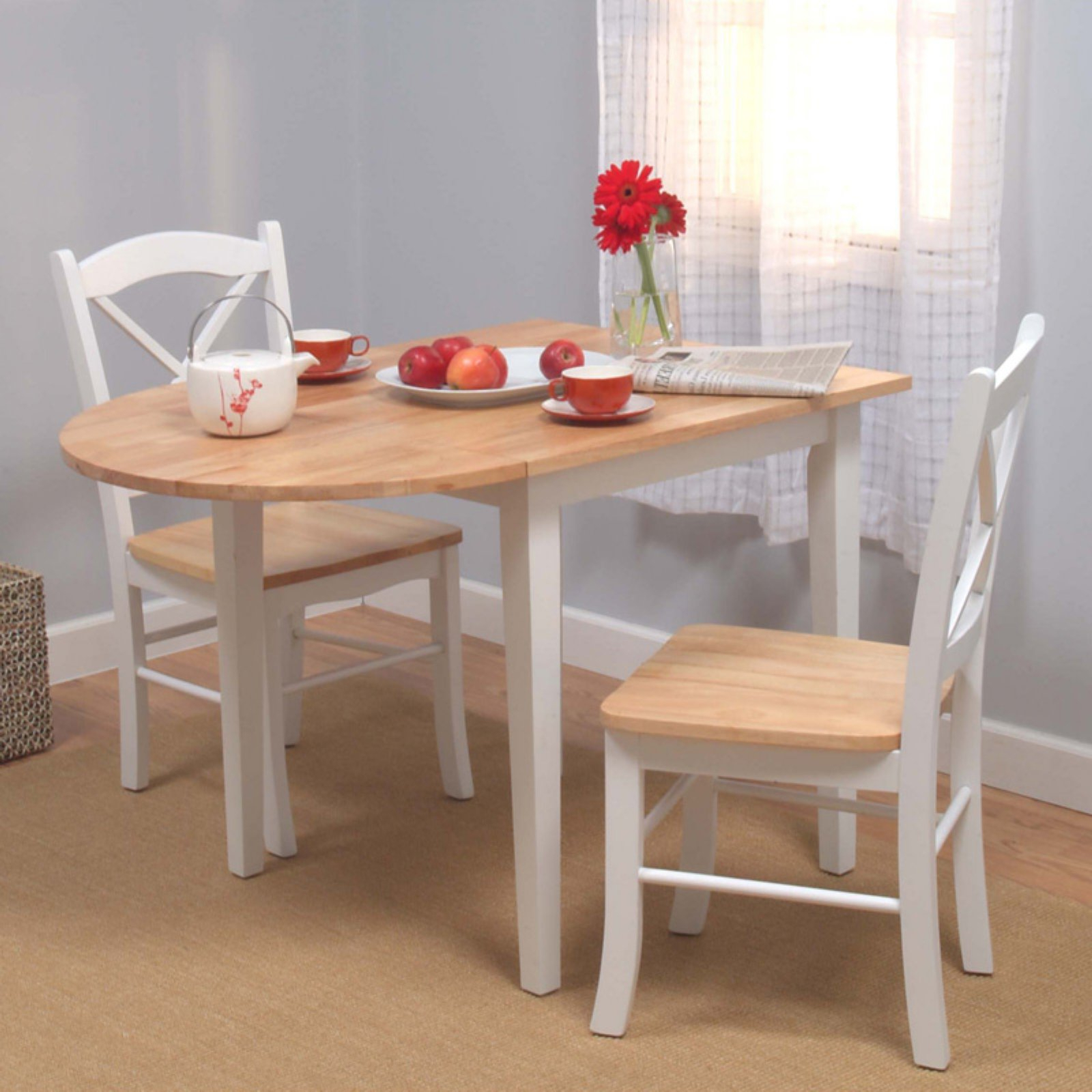 2018 3 Pieces Dining Tables And Chair Set Regarding Tiffany 3 Piece Dining Table Set – Walmart (View 2 of 30)
