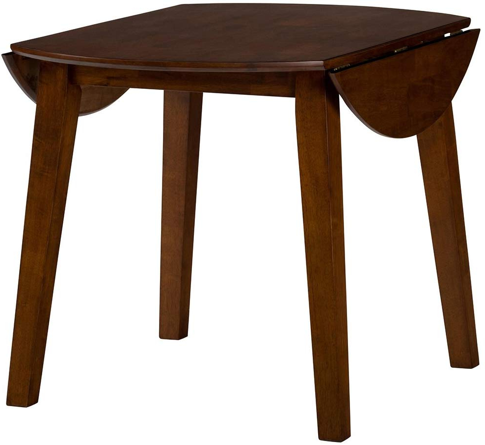 2018 Amazon – Jofran Simplicity Caramel Round Drop/leaf For Transitional Drop Leaf Casual Dining Tables (View 1 of 30)