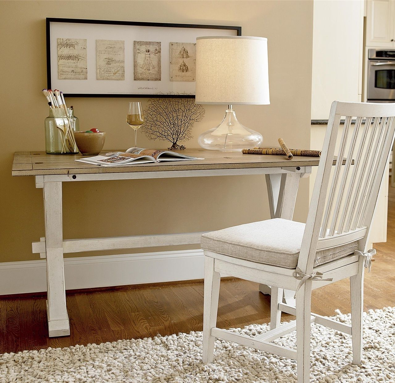 2018 Coastal Beach White Drop Leaf Kitchen Console Table (View 2 of 30)