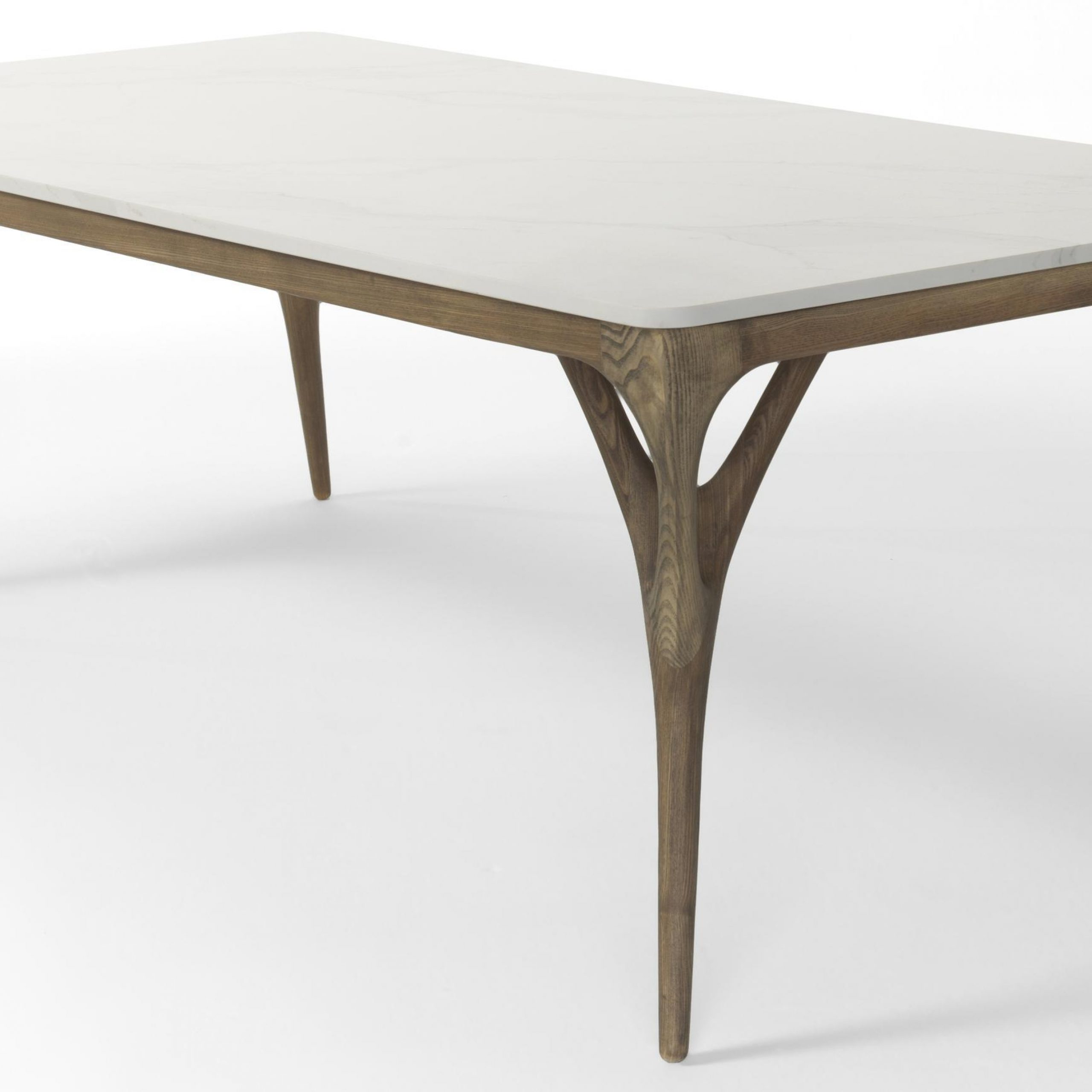 2018 Dining Tables With Stained Ash Walnut Within Nadia European Ash Medium Dining Tableagrippa In Dining (View 20 of 30)