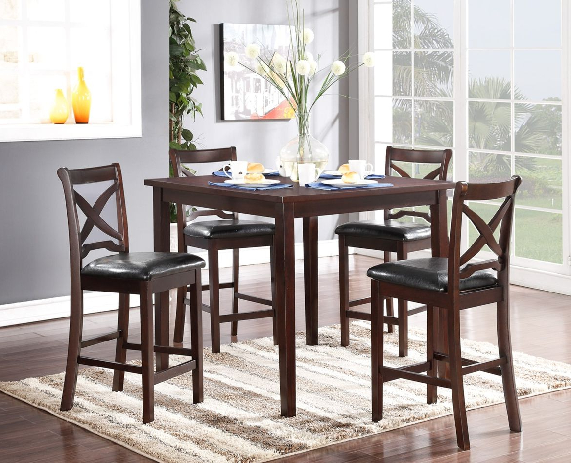 2018 Espresso Finish Wood Classic Design Dining Tables Intended For The Milo Dining Is A Versatile Set, Perfect For Smaller (View 2 of 30)
