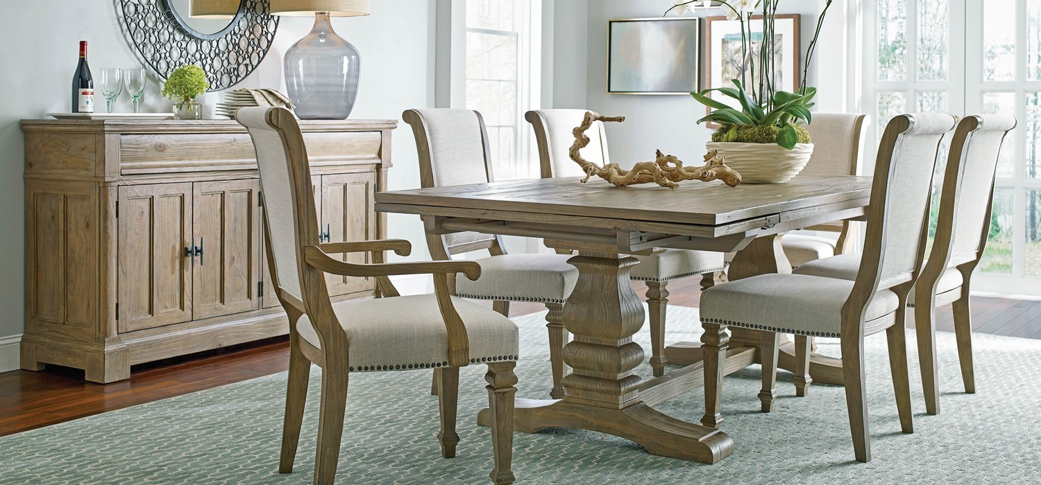 2018 Rustic Pine Small Dining Tables In Stone Street – Solid Pinekincaid Furniture (View 6 of 30)