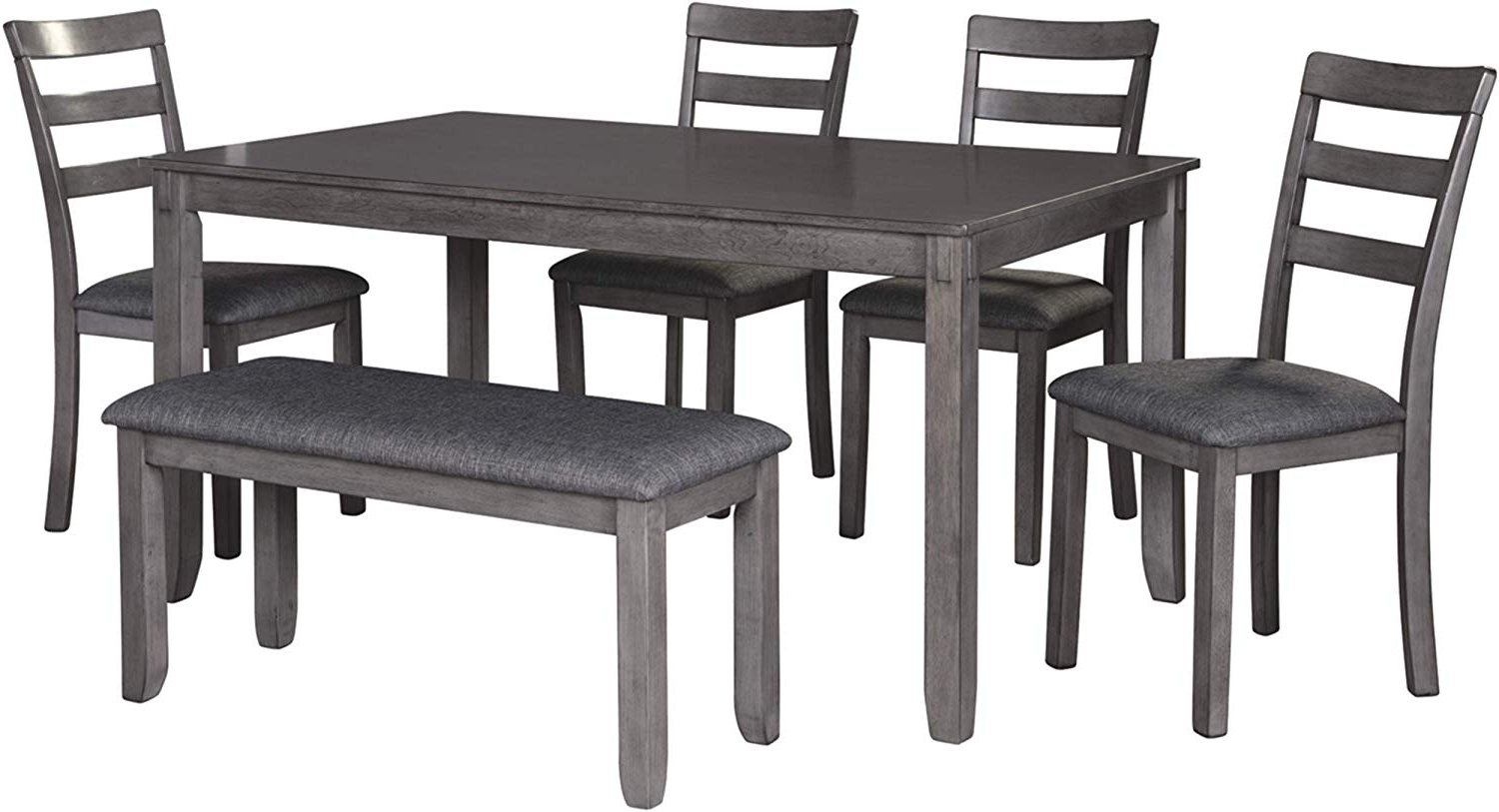 2018 Transitional 6 Seating Casual Dining Tables Regarding Signature Designashley Bridson Dining Table, Gray (View 4 of 30)