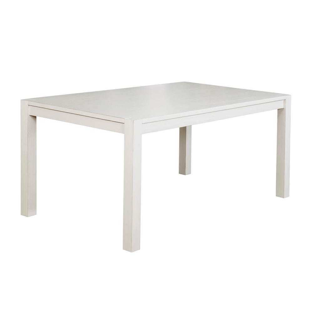 2018 William's Home Furnishing Glenfield Weathered White Within Atwood Transitional Square Dining Tables (View 1 of 30)