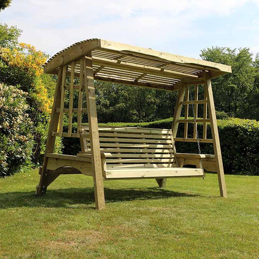 2019 3 Seat Pergola Swings With Regard To Antoinette 3 Seater Garden Swing Seat (View 4 of 30)